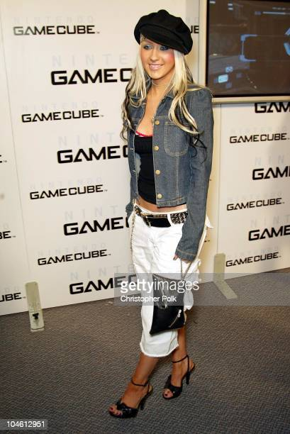 Christina Aguilera during Nintendo's Gone Platinum at 6777 Hollywood Blvd in Hollywood CA United States