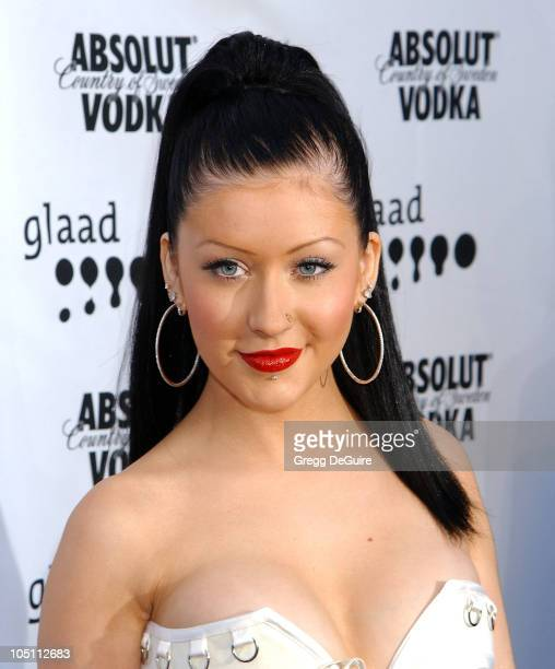 Christina Aguilera during The 14th Annual GLAAD Media Awards Los Angeles Arrivals at Kodak Theatre in Hollywood California United States