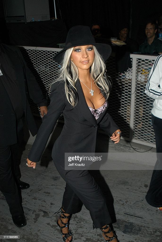 Christina Aguilera during VH1 Big in 2002 Awards - Backstage and Audience at Grand Olympic Auditorium in Los Angeles, CA, United States.