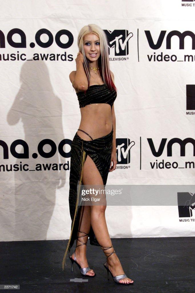 Christina Aguilera in Trish Summerville at MTV Video Music Awards 2000 held at Radio City Music Hall September 7 2000 Photo by Nick Elgar/ImageDirect