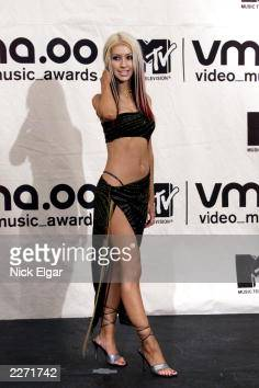 Christina Aguilera in Trish Summerville at MTV Video Music Awards 2000 held at Radio City Music Hall September 7 2000 Photo by Nick Elgar/ImageDirect