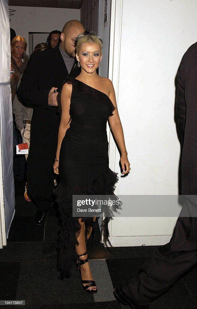Christina Aguilera, Launch Party Of Xelibri Mobile Phone Held At Old Billingsgate Market In London.