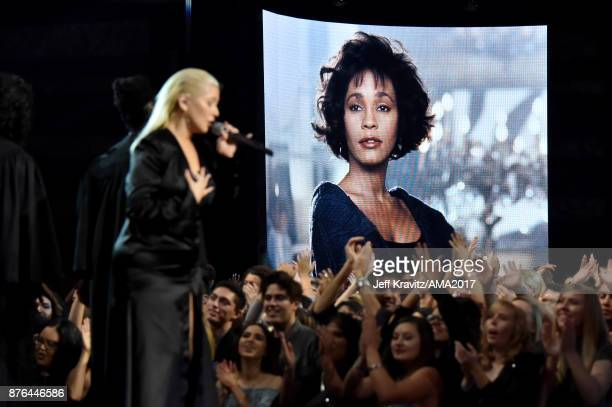 Christina Aguilera onstage during the 2017 American Music Awards at Microsoft Theater on November 19 2017 in Los Angeles California