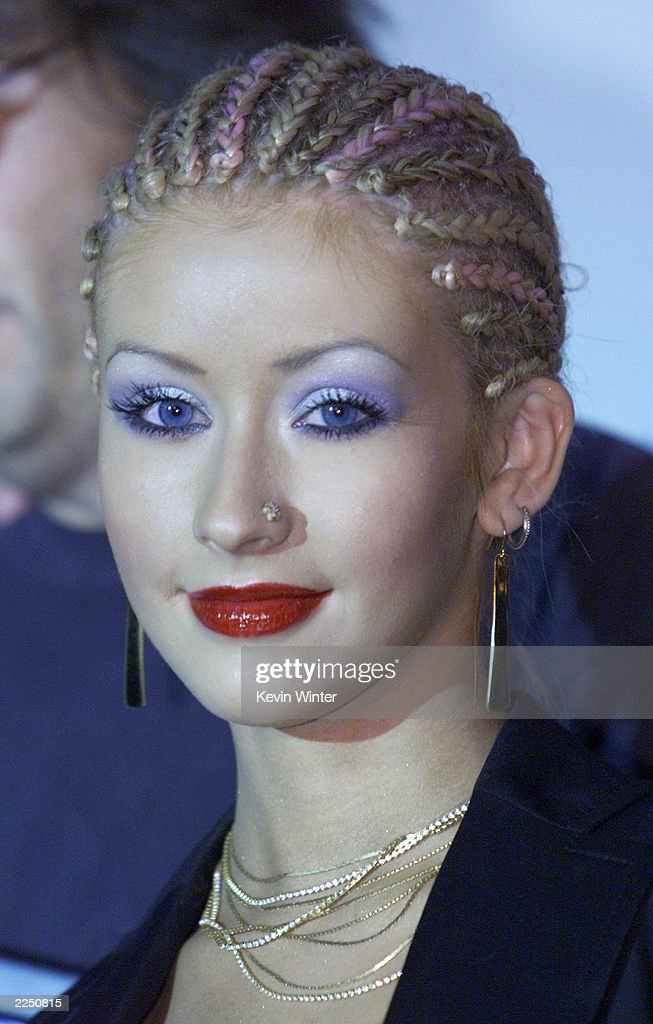 Christina Aguilera performed one song live at the Radio and Records Convention 2001 at the Century Plaza Hotel Los Angeles Ca 6/15/01Photo by Kevin...