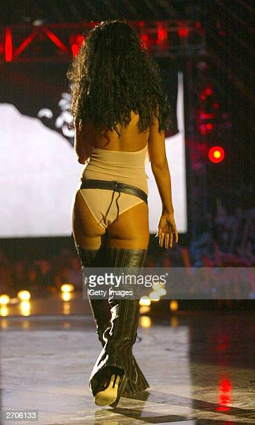Christina Aguilera performs at the MTV Europe Music Awards 2003 November 6 2003 in Edinburgh Scotland