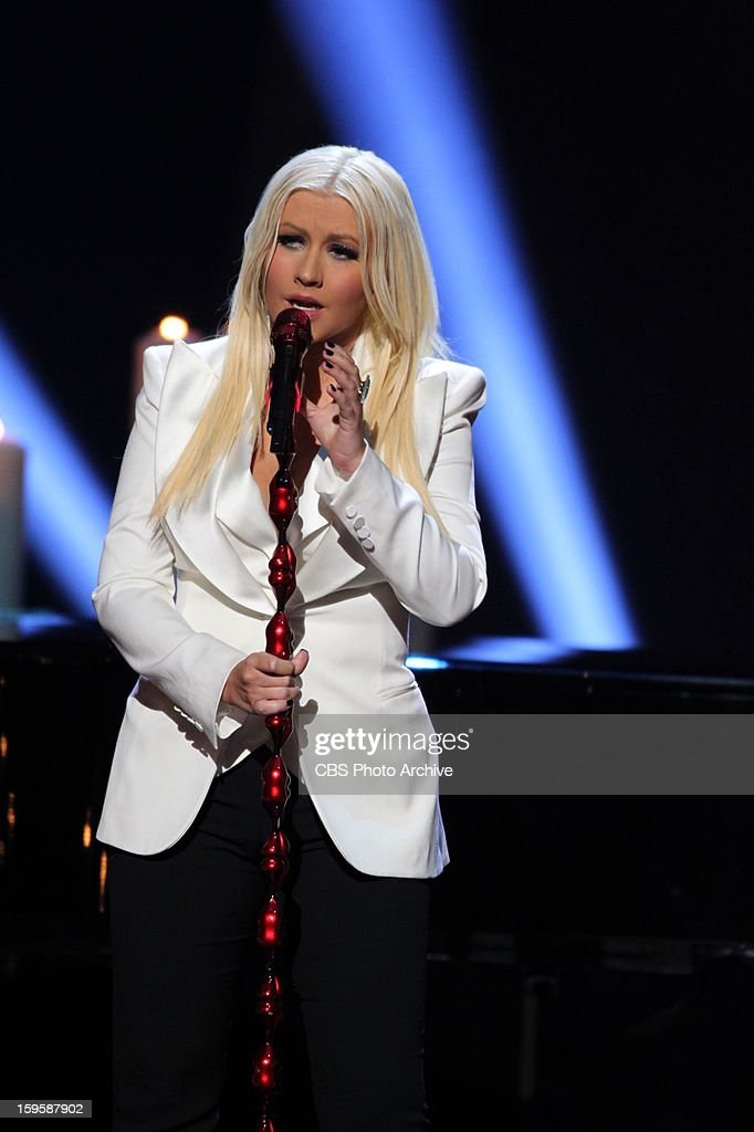 Christina Aguilera performs at The PEOPLE'S CHOICE AWARDS, the only major awards show where fans determine the nominees and winners across categories of movies, music and television, will air live from the Nokia Theater L.A. Live on Wednesday, Jan. 9, 2013 (9:00-11:00 PM, ET/delayed PT) on the CBS Television Network.