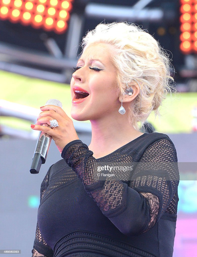 Christina Aguilera performs during the KIIS FM's 2014 Wango Tango at StubHub Center on May 10, 2014 in Los Angeles, California.