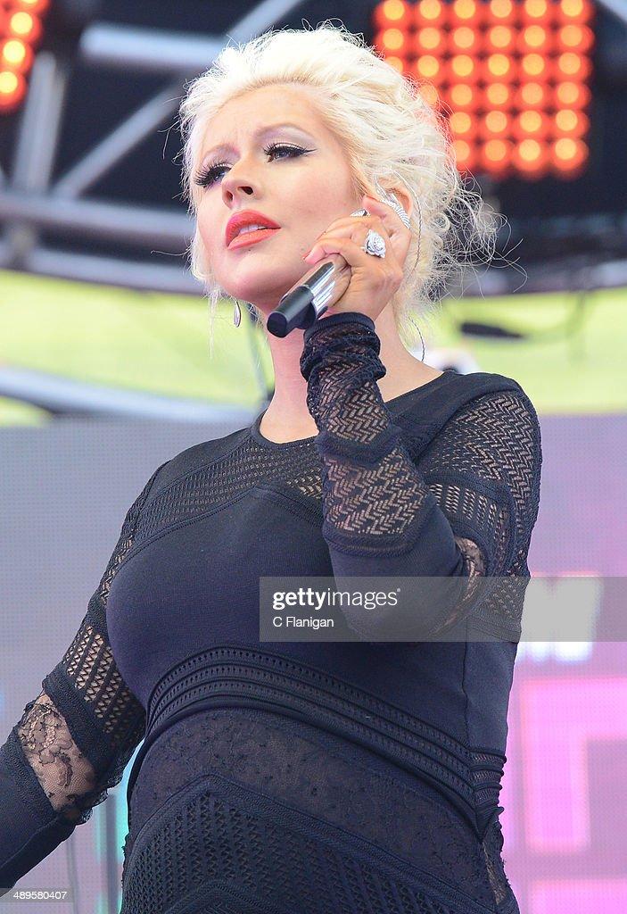 Christina Aguilera performs during the KIIS FM's 2014 Wango Tango at StubHub Center on May 10, 2014 in Los Angeles, California.
