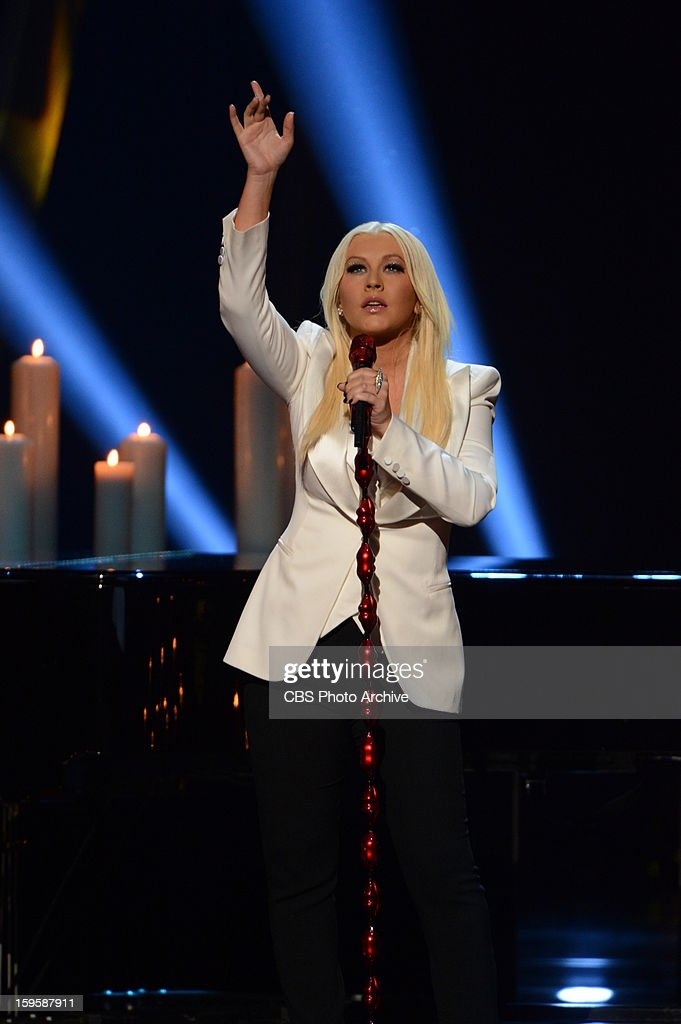 Christina Aguilera performs during The PEOPLE'S CHOICE AWARDS, the only major awards show where fans determine the nominees and winners across categories of movies, music and television, will air live from the Nokia Theater L.A. Live on Wednesday, Jan. 9, 2013 (9:00-11:00 PM, ET/delayed PT) on the CBS Television Network.