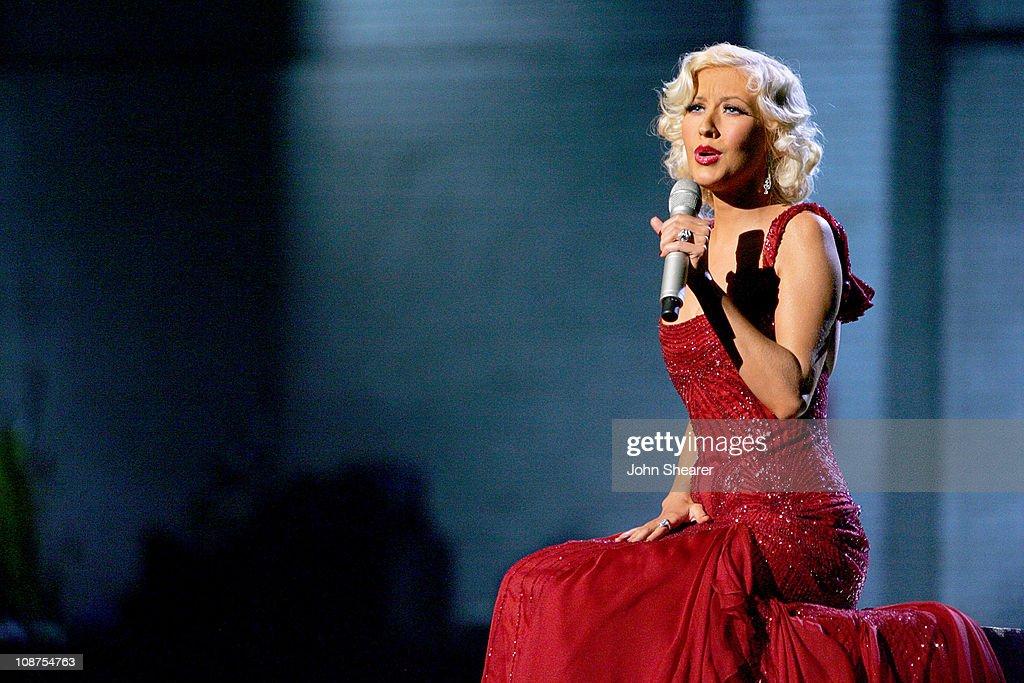 Christina Aguilera performs 'Hurt' during 2006 MTV Video Music Awards - MTV.com Show at Radio City Music Hall in New York City, New York, United States.