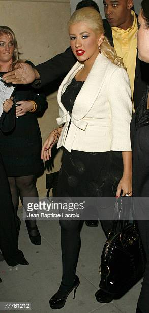 Christina Aguilera sighting on November 7 2007 in Berverly Hills California