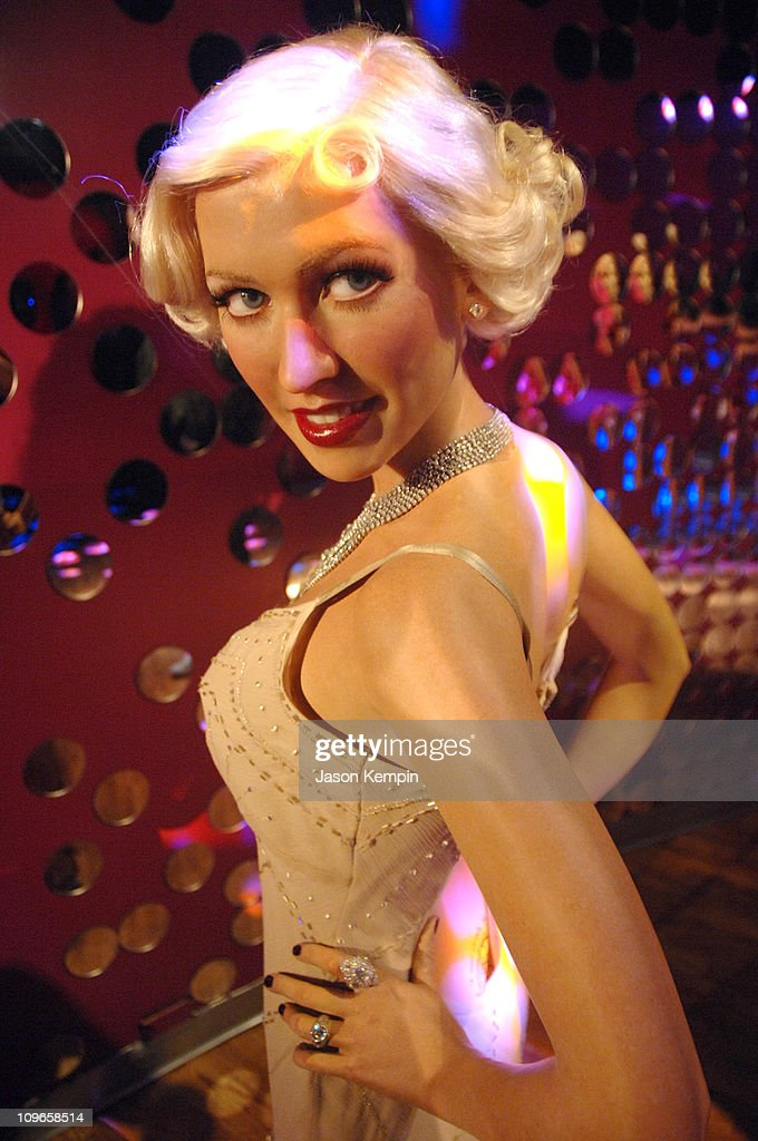 Christina Aguilera Wax Figure during Madame Tussauds Unveils Wax Figures of Christina Aguilera and Justin Timberlake for the Opening of Club MTNYOs...