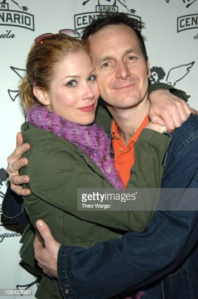 Christina Applegate and Denis O'Hare during Gran Centenario Welcomes Back Christina Applegate to 'Sweet Charity' at Ava Lounge in New York City New...