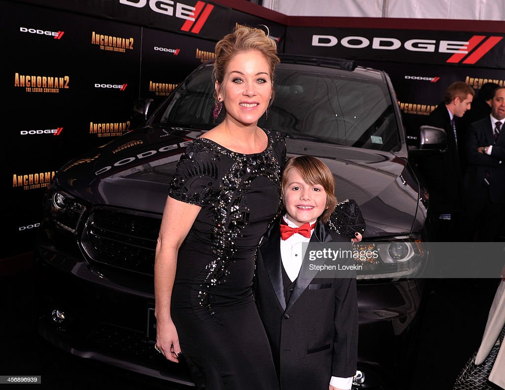<a gi-track='captionPersonalityLinkClicked' href=/galleries/search?phrase=Christina+Applegate&family=editorial&specificpeople=171273 ng-click='$event.stopPropagation()'>Christina Applegate</a> and Judah Nelson attend 'Anchorman 2' Premiere NYC Sponsored By Dodge at Beacon Theatre on December 15, 2013 in New York City.
