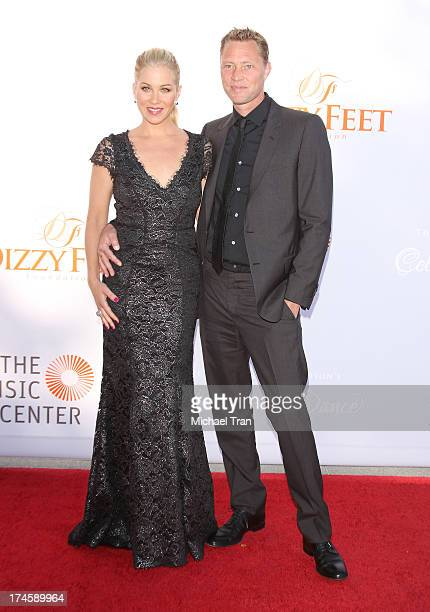 Christina Applegate and Martyn LeNoble arrive at the Dizzy Feet Foundation's 3rd Annual Celebration of Dance Gala held at Dorothy Chandler Pavilion...