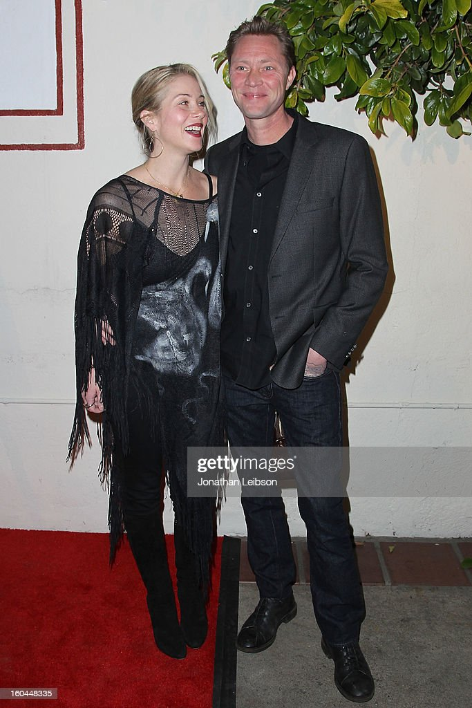 Christina Applegate and Martyn LeNoble attend the 'Kumpania: Flamenco Los Angeles' - Los Angeles Premiere - Arrivals at El Cid on January 31, 2013 in Los Angeles, California.