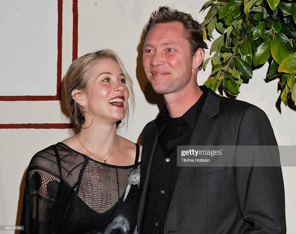 Christina Applegate and Martyn LeNoble attend the 'Kumpania Flamenco' premiere at El Cid on January 31, 2013 in Los Angeles, California.