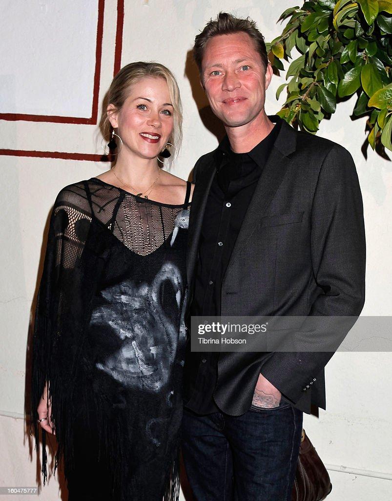 Christina Applegate and Martyn LeNoble attend the 'Kumpania Flamenco' premiere at El Cid on January 31, 2013 in Los Angeles, California.