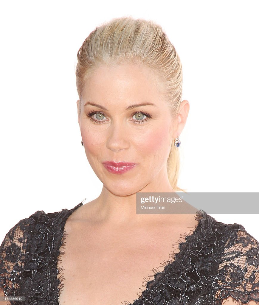 <a gi-track='captionPersonalityLinkClicked' href=/galleries/search?phrase=Christina+Applegate&family=editorial&specificpeople=171273 ng-click='$event.stopPropagation()'>Christina Applegate</a> arrives at the Dizzy Feet Foundation's 3rd Annual Celebration of Dance Gala held at Dorothy Chandler Pavilion on July 27, 2013 in Los Angeles, California.