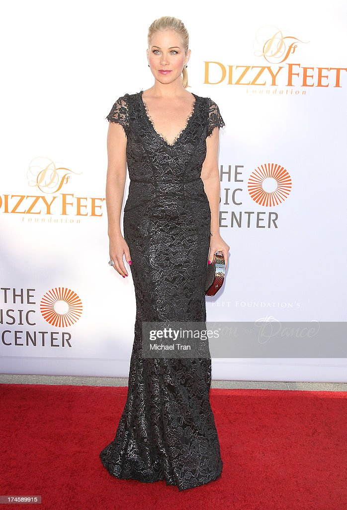 Christina Applegate arrives at the Dizzy Feet Foundation's 3rd Annual Celebration of Dance Gala held at Dorothy Chandler Pavilion on July 27, 2013 in Los Angeles, California.