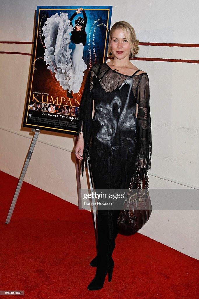Christina Applegate attends the 'Kumpania Flamenco' premiere at El Cid on January 31, 2013 in Los Angeles, California.
