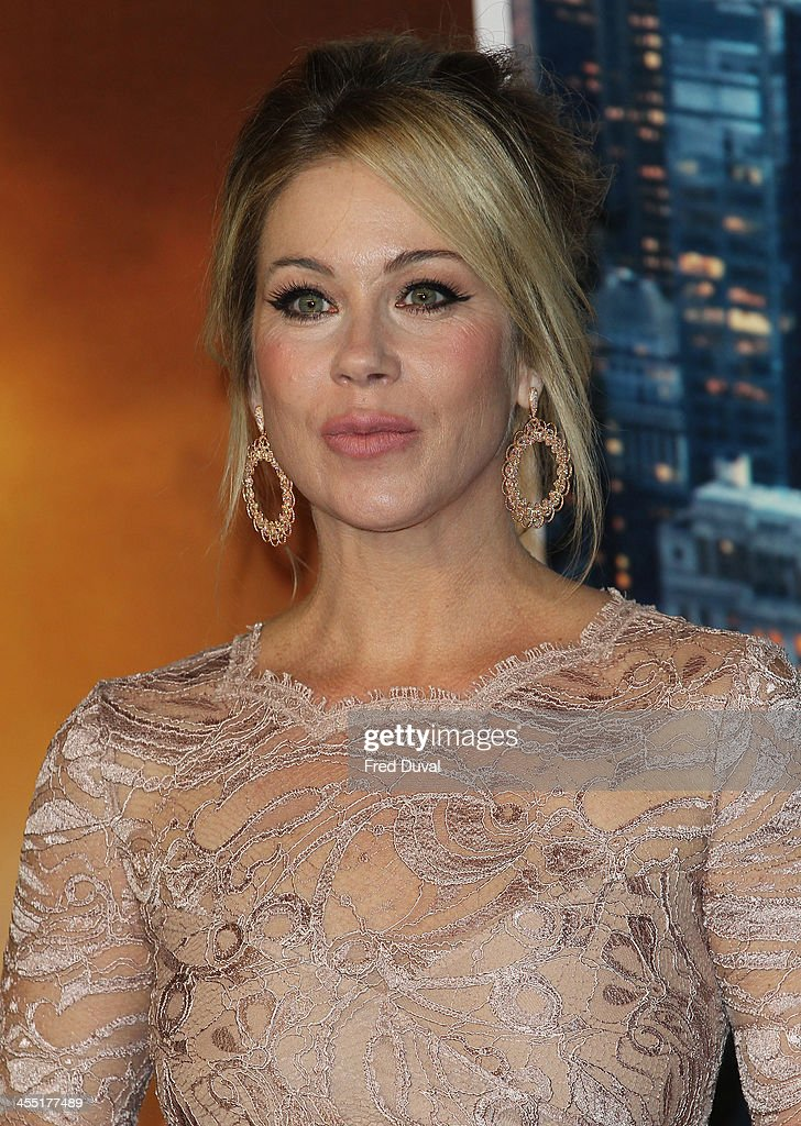 <a gi-track='captionPersonalityLinkClicked' href=/galleries/search?phrase=Christina+Applegate&family=editorial&specificpeople=171273 ng-click='$event.stopPropagation()'>Christina Applegate</a> attends the UK film premiere of 'Anchorman 2: The Legend Continues' at Vue West End on December 11, 2013 in London, England.