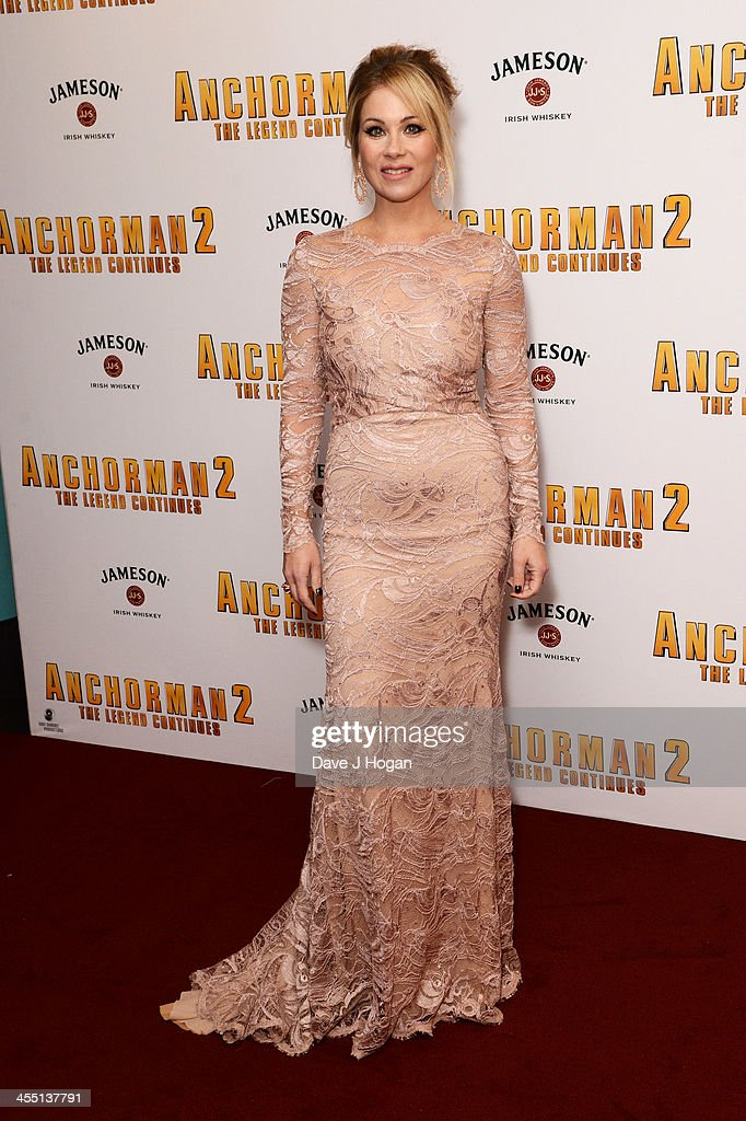 <a gi-track='captionPersonalityLinkClicked' href=/galleries/search?phrase=Christina+Applegate&family=editorial&specificpeople=171273 ng-click='$event.stopPropagation()'>Christina Applegate</a> attends the UK premiere of 'Anchorman 2: The Legend Continues' at The Vue West End on December 11, 2013 in London, England.