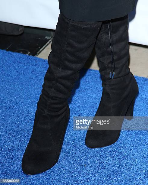 Christina Applegate boot detail arrives at the 4th Annual Light Up The Blues held at the Pantages Theatre on May 21 2016 in Hollywood California