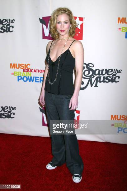 Christina Applegate during VH1 Save The Music A Concert To Benefit The VH1 Save The Music Foundation Red Carpet Arrivals at Beacon Theatre in New...