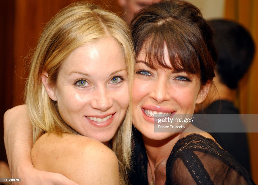 Christina Applegate & Lara Flynn Boyle during Hard Rock Hotel and Casino Presents Bruce Springsteen After-Party at Hard Rock Hotel in Las Vegas, Nevada, United States.