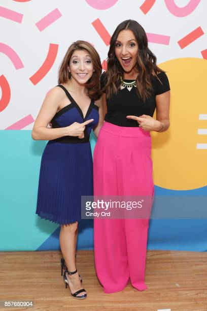 Christina Bianco and Brit Morin attend Brit Co Kicks Off Experiential PopUp #CreateGood with Allison Williams and Daphne Oz at Brit Co on October 4...