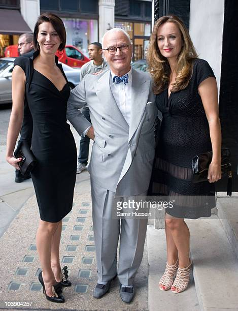 Christina Blahnik Manolo Blahnik and Lucy Yeomans arrive for The World Of Manolo Launch Party at Liberty on September 7 2010 in London England