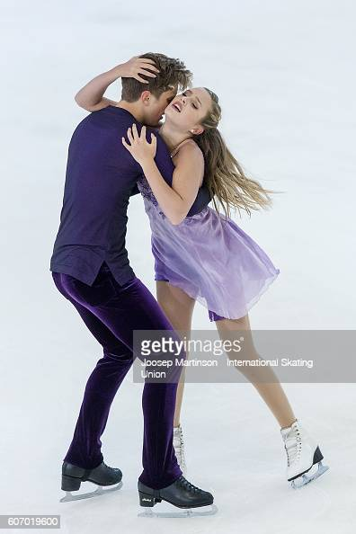 Christina Carreira and Anthony Ponomarenko of the United States compete during the Junior Ice Dance Free Dance on day three of the ISU Junior Grand...