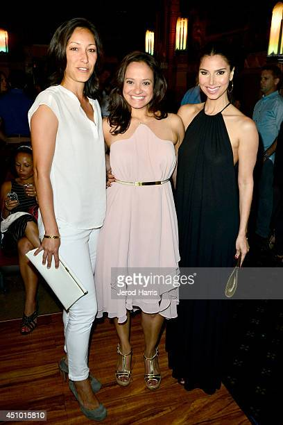 Christina Chang Judy Reyes and Roselyn Sanchez arrive at the premiere of 'LA GOLDA' at The Crest on June 21 2014 in Los Angeles California
