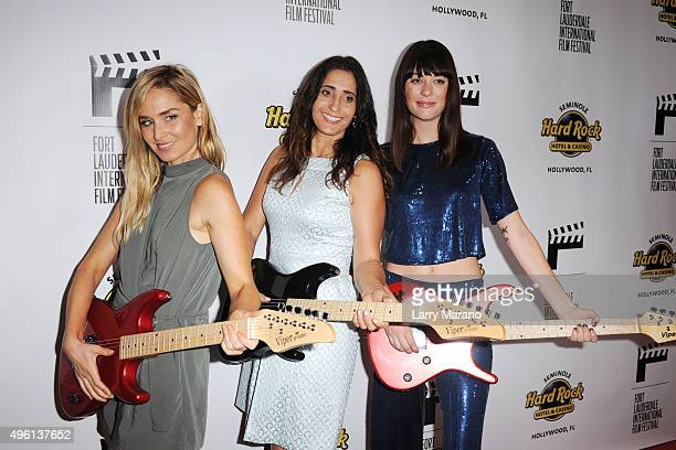 Christina Collard Shanra Kehl and Serena Hendrix attend the Fort Lauderdale International Film Festival Opening Night at Seminole Hard Rock Hotel on...