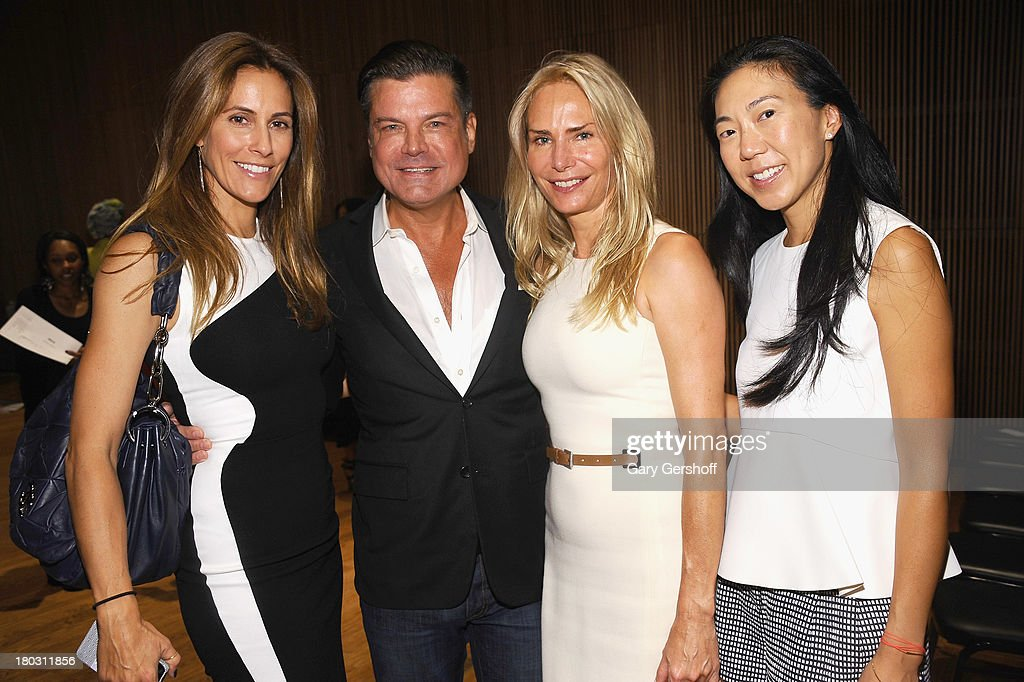 Christina Cuomo, designer Douglas Hannant, Ellen Crown and Diana Hsu attend the Douglas Hannant show during Spring 2014 Mercedes-Benz Fashion Week at DiMenna Center on September 11, 2013 in New York City.