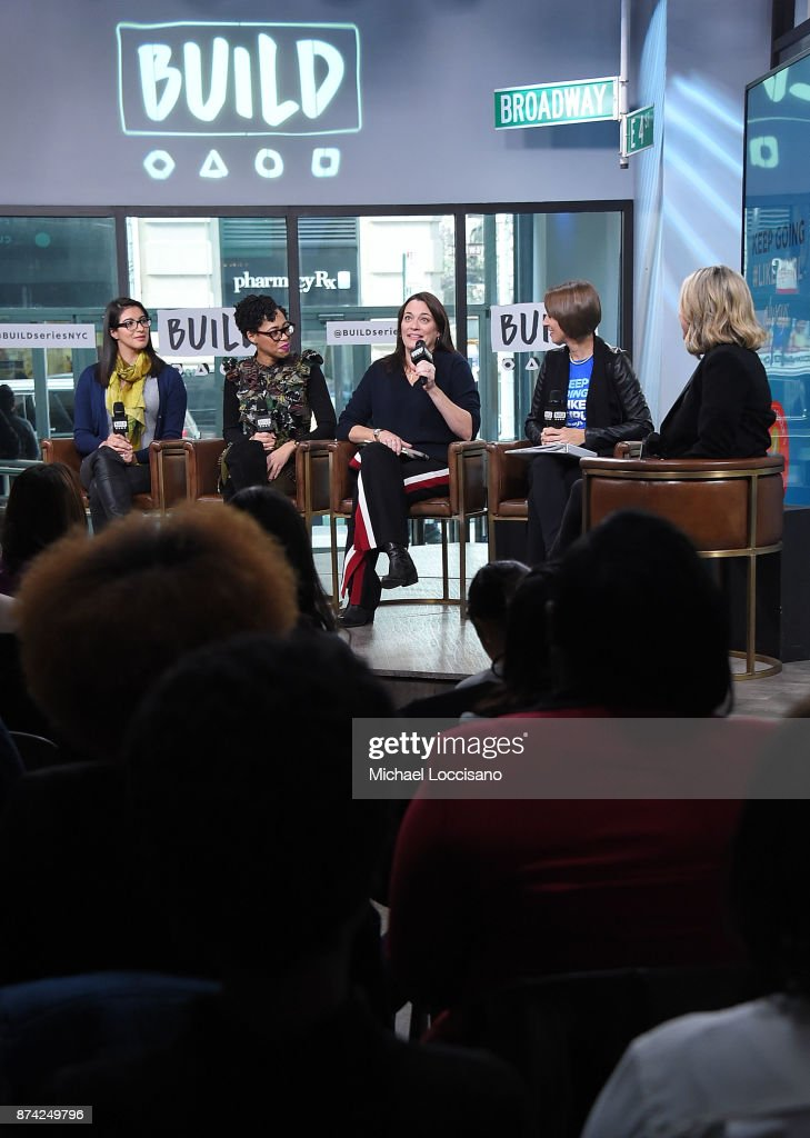, Christina Diaz, Dr. Knatokie Ford, Meredith Walker, Amanda Hill and Laura Brounstein visit Build Studio to discuss the Fueled By Failure Summit with SmartGirls on November 14, 2017 in New York City.
