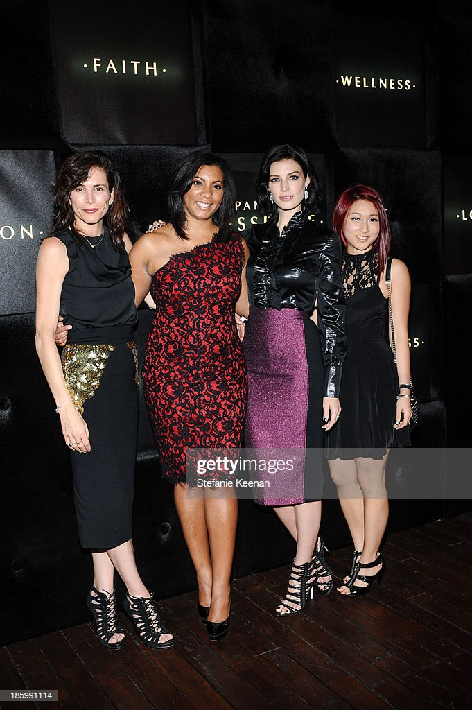 Christina Ehlrich, Keshia Jolland, Jessica Pare and Margaret Nam attend PANDORA ESSENCE COLLECTION North America Launch Party at SkyBar at the Mondrian Los Angeles on October 26, 2013 in West Hollywood, California.