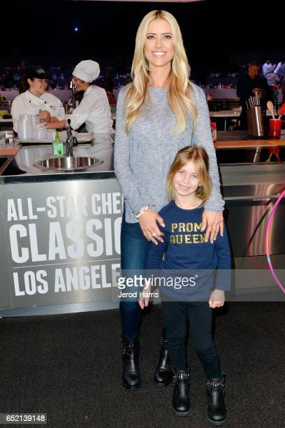 Christina El Moussa and daughter Taylor attend the AllStar Chef Classic at LA Live Event Deck on March 11 2017 in Los Angeles California