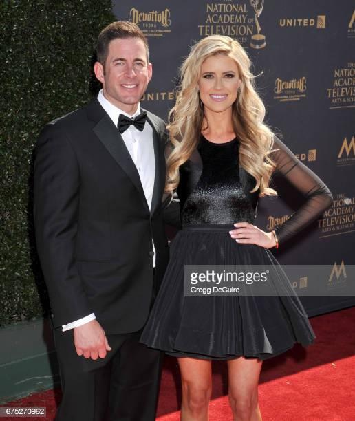 Christina El Moussa and Tarek El Moussa arrive at the 44th Annual Daytime Emmy Awards at Pasadena Civic Auditorium on April 30 2017 in Pasadena...