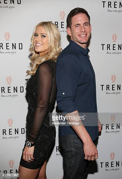 Christina El Moussa and Tarek El Moussa of HGTV's 'Flip or Flop' new North American brand ambassadors attend the TREND Group and Granite...