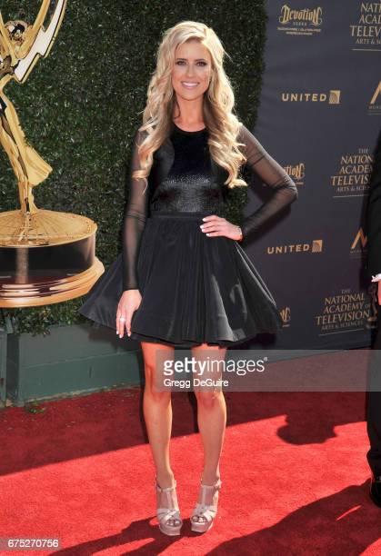 Christina El Moussa arrives at the 44th Annual Daytime Emmy Awards at Pasadena Civic Auditorium on April 30 2017 in Pasadena California