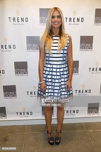 Christina El Moussa attends Tarek and Christina TV's Favorite House Flippers Featured at TREND/Stone Source Event in New York on September 15 2016 in...