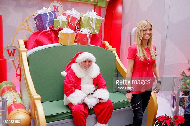 Christina El Moussa host of HGTV's hit show Flip or Flop visited the HGTV Santa HQ at Lakewood Center The reality star visited with Santa toured the...