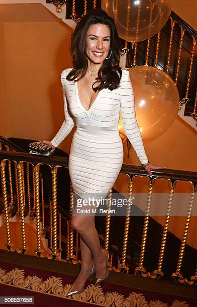 Christina Estrada attends Lisa Tchenguiz's birthday party on January 23 2016 in London England