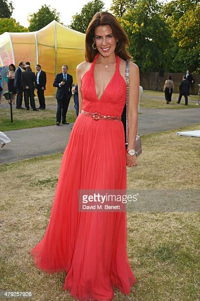 Christina Estrada attends The Serpentine Gallery summer party at The Serpentine Gallery on July 2 2015 in London England