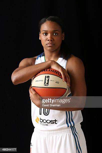 Christina Foggie of the Minnesota Lynx poses for portraits during 2014 Media Day on May 12 2014 at the Minnesota Timberwolves and Lynx LifeTime...