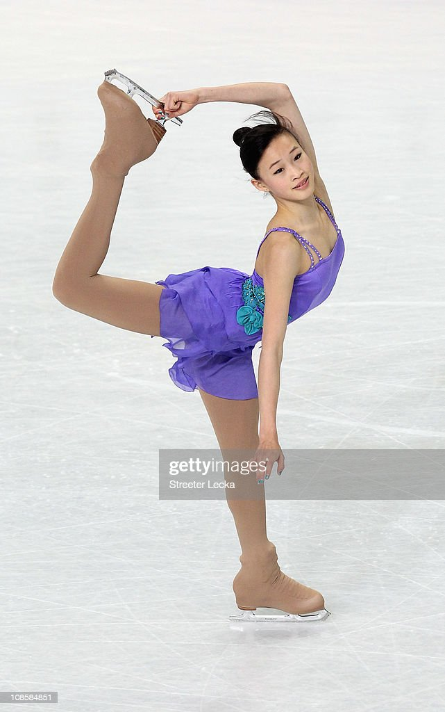 <a gi-track='captionPersonalityLinkClicked' href=/galleries/search?phrase=Christina+Gao&family=editorial&specificpeople=6719493 ng-click='$event.stopPropagation()'>Christina Gao</a> competes in the Championship Ladies Free Skate during the U.S. Figure Skating Championships at the Greensboro Coliseum on January 29, 2011 in Greensboro, North Carolina.