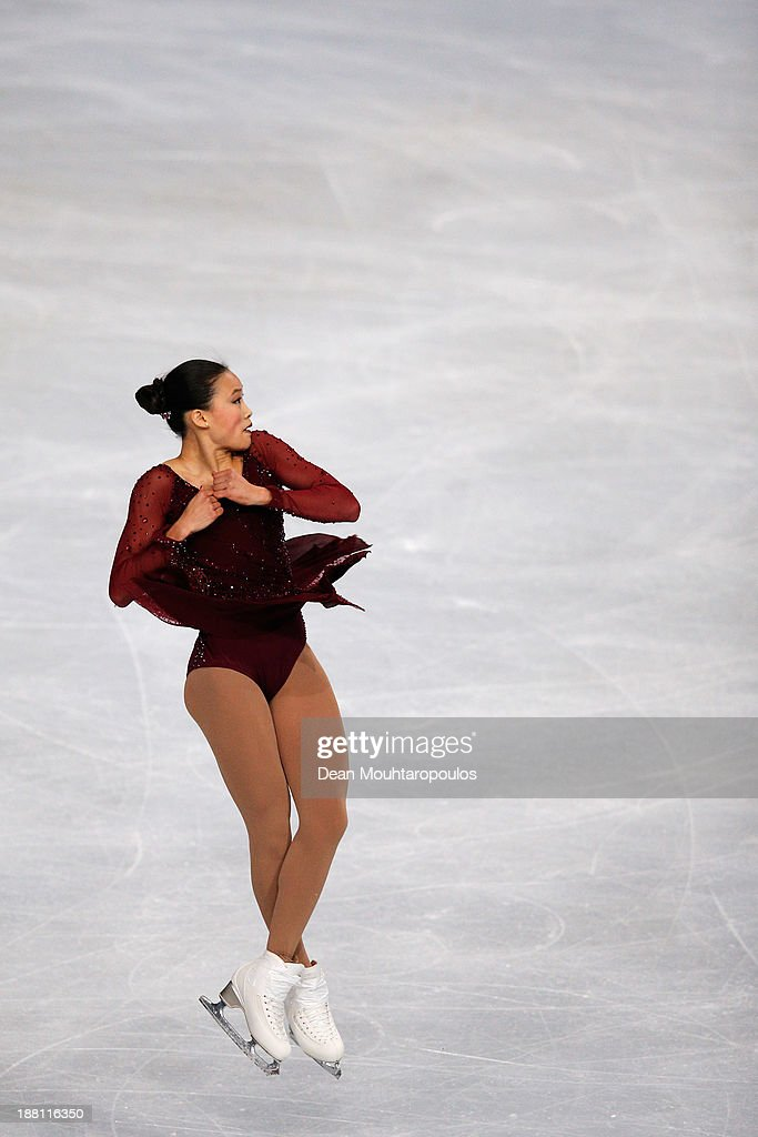 <a gi-track='captionPersonalityLinkClicked' href=/galleries/search?phrase=Christina+Gao&family=editorial&specificpeople=6719493 ng-click='$event.stopPropagation()'>Christina Gao</a> of the USA performs in the Ladies Short Program during day one of Trophee Eric Bompard ISU Grand Prix of Figure Skating 2013/2014 at the Palais Omnisports de Bercy on November 15, 2013 in Paris, France.