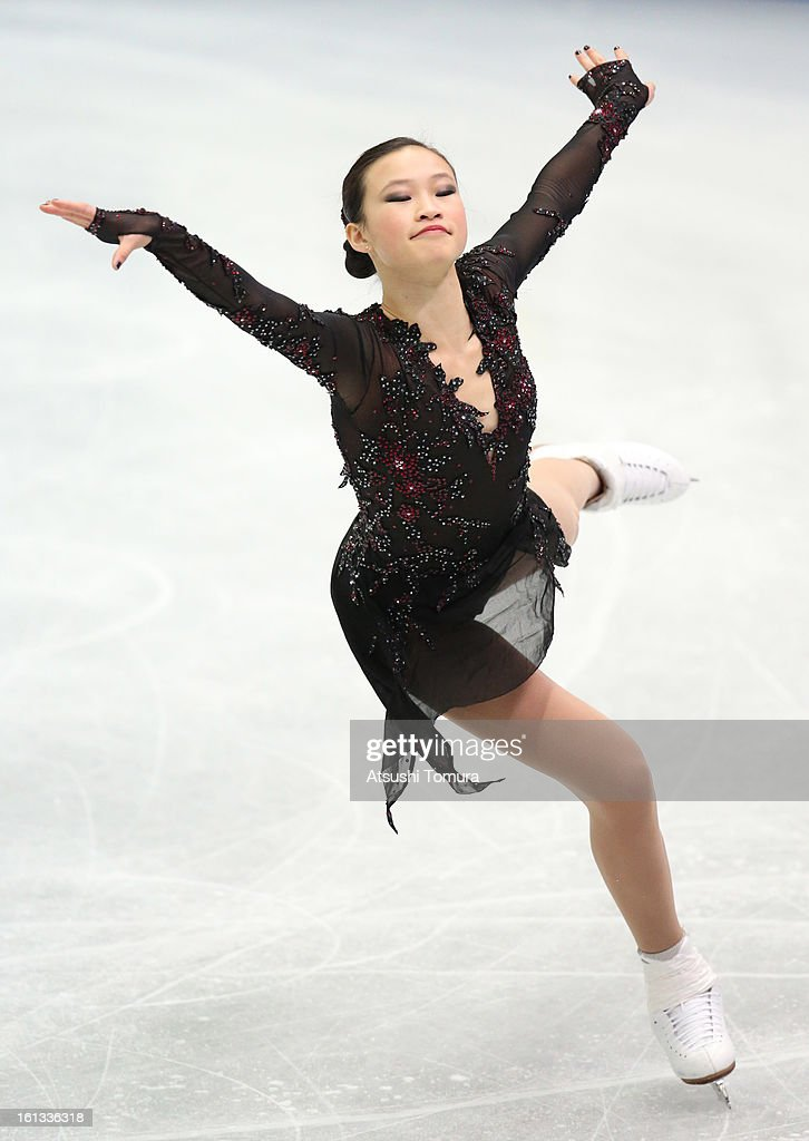 Christina Gao of USA competes in the Women's Free Skating during day three of the ISU Four Continents Figure Skating Championships at Osaka Municipal Central Gymnasium on February 10, 2013 in Osaka, Japan.